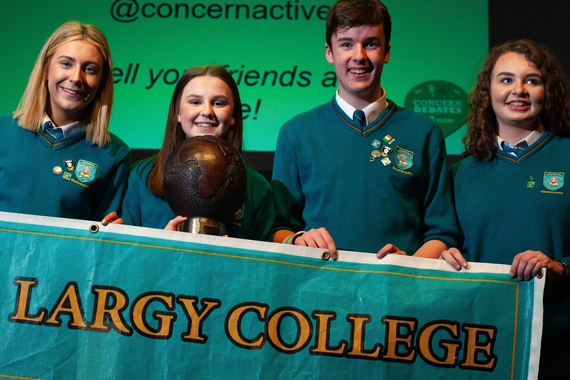 Largy College students win Concern debating competition